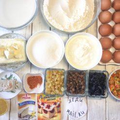 продукты для приготовления куличей